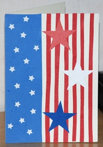 Star-Spangled Card, Patriotic Card-Making Craft Project for 4th of July