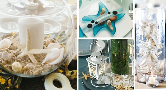 Starfish Themed Wedding Table Decorations And Centerpieces