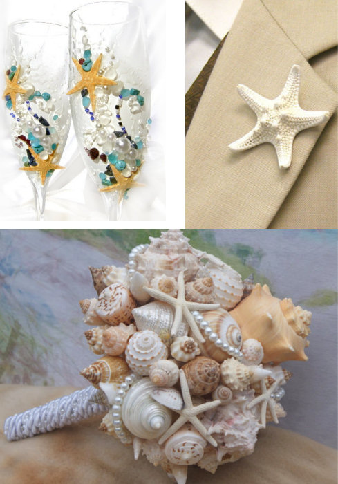 Superb Starfish Wedding Theme Ideas And Cake Topper Dot Com Women Largest Home Design Picture Inspirations Pitcheantrous