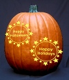 Starry Halloween and Holidays Pumpkin Carving Pattern