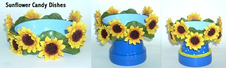 Clay Pot Sunflower Candy Dish - Clay Pot Crafts