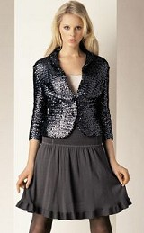 Sequin blazer with gray skirt - Holiday Fashions 2007