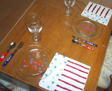 Patriotic Craft Project: Fourth of July Table Settings