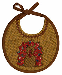 Appliquéd Thanksgiving Bib - Thanksgiving Sewing Crafts