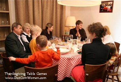 Thanksgiving Dinner Table Games & Activities