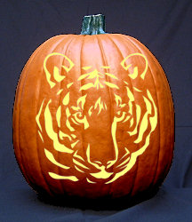 Tiger Face Pumpkin Carving Pattern