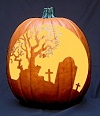 Tombstone Pumpkin Carving Pattern