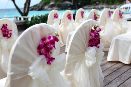 Tropical Wedding Decoration with Orchids