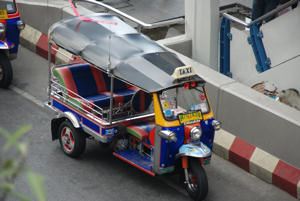 Traditional Tuktuk on the streets of Bangkok