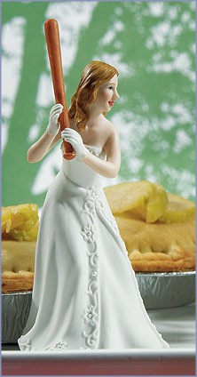 Bride At Home Base Ready To Hit The Run Wedding Cake Topper
