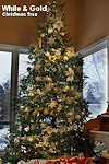 White & Gold Theme Christmas Tree