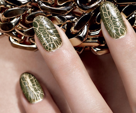 Dior Golden Jungle Crocodile Leather Effect Crackle Nail Polish Set