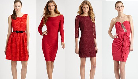 Red and Burgundy Dresses for Fall Winter 2012-2013