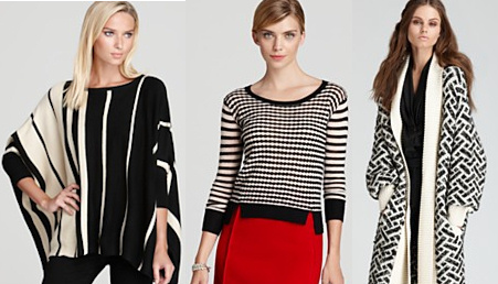 Black and White Print Sweaters - Trends for Fall Winter 2012-2013