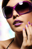 Purple Makeup for Brown Hair Color