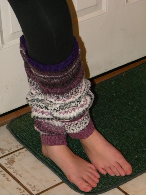 Recycle an Old Sweater into Leg Warmers
