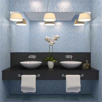 Small Bathroom Mirrors on Mirror And    His And Hers Sinks    Make This Bathroom Vanity A