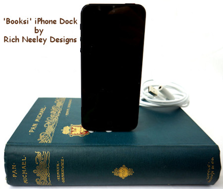Vintage Book Style iPhone 5 Dock
