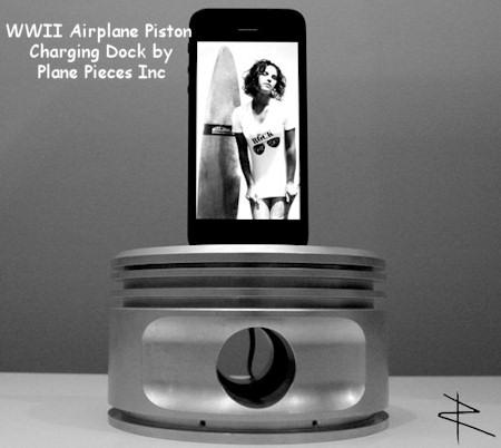 WWII Airplane Engine Piston iPhone 5 Charging Dock