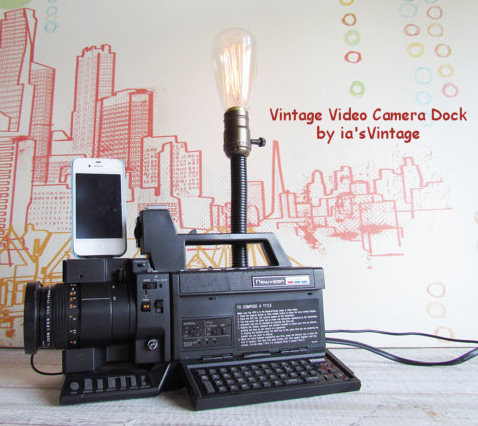 Vintage Video Camera iPhone 5 Docking Station