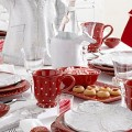 Red and White Dots and Stripes Christmas Table Decoration