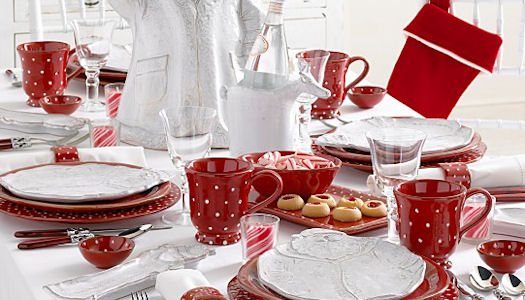 Christmas Table Decorations Red And White - Design Decoration
