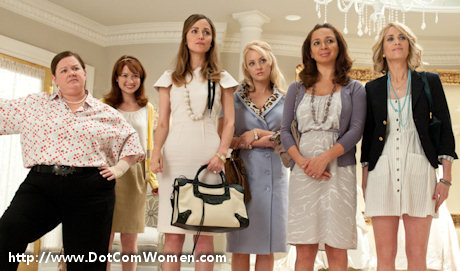 Bridesmaids movie - Dresses and Handbags to die for