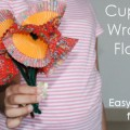 Cupcake Wrapper Flowers - Kids Craft Idea