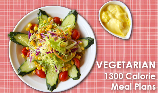 Vegetarian 1300 Calorie Meal Plans  Dot Com Women
