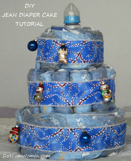 Diy Jean Diaper Cake Tutorial For Baby Boy