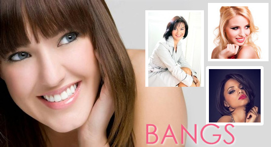 Bangs help conceal hair loss
