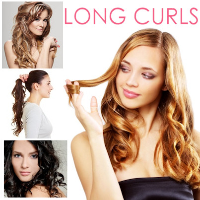 Long Curls add volume to thin hair