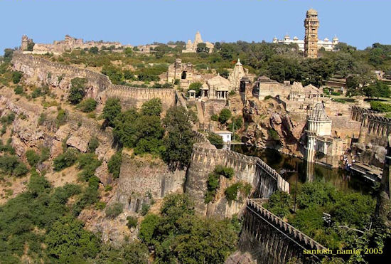 The Chittorgarh Fort in India