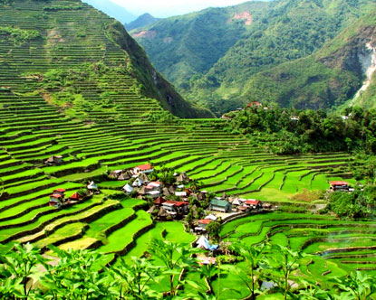 The Rice Terraces of Banaue in the Philippines