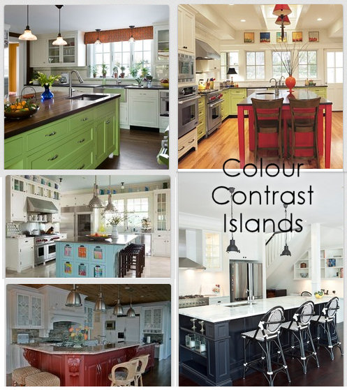Contrast Colored Kitchen Islands