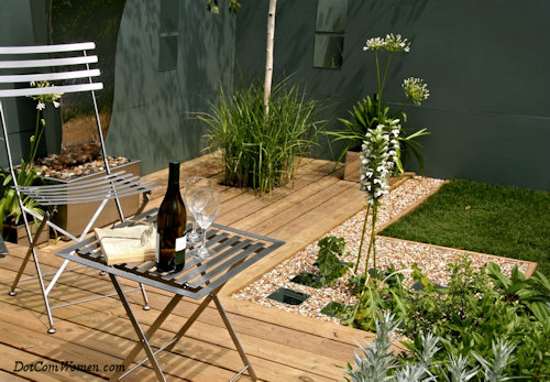 7 deck design ideas for your new home dot com women for Decking ideas for small gardens