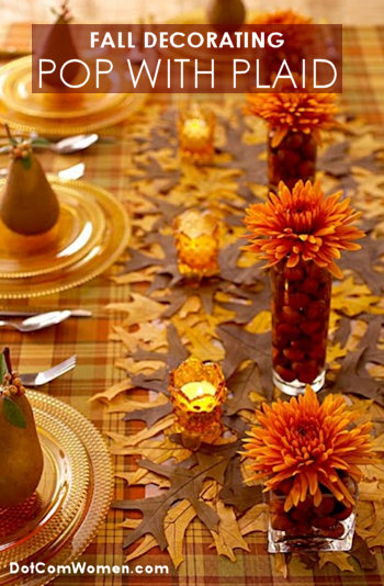 fall decorating with plaid