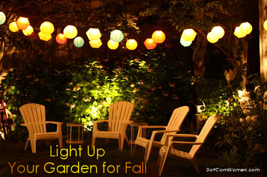fall garden lights