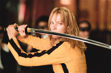 "Uma Thurman as The Bride in Quentin Tarantino's ""Kill Bill Volumes 1 & 2"""