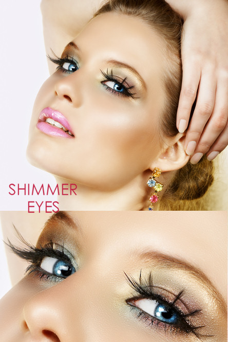 Shimmer Eyes Party Makeup