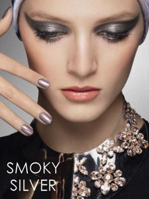 Smoky Silver Party Makeup Look by Dior