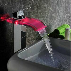 LED waterfall tap