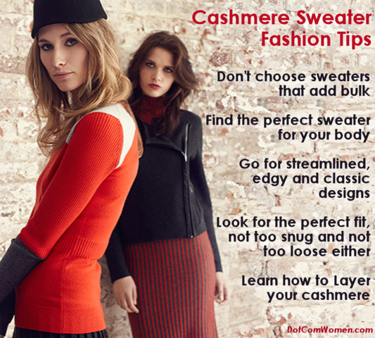 Cashmere Sweater Fashion Tips
