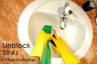 Unblocking Sinks - DIY Bathroom Pipe Blockage