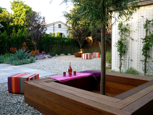 Patios With Seating Around The Tree
