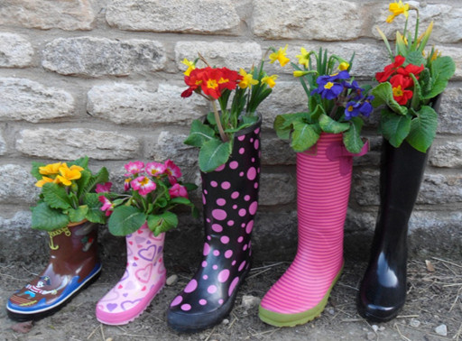 upcycling old boots