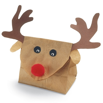 practical Christmas craft is a Reindeer gift bag. Not only is it a ...