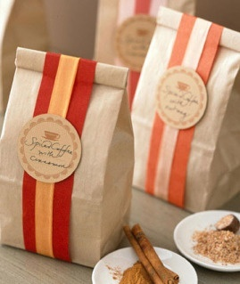 tin-tie coffee bag gift wrap
