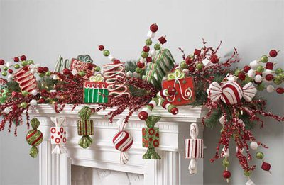 Christmas mantel decorating on a kids theme