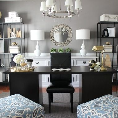 3 ways to create the perfect home office dot com women Pinterest home decor black and white